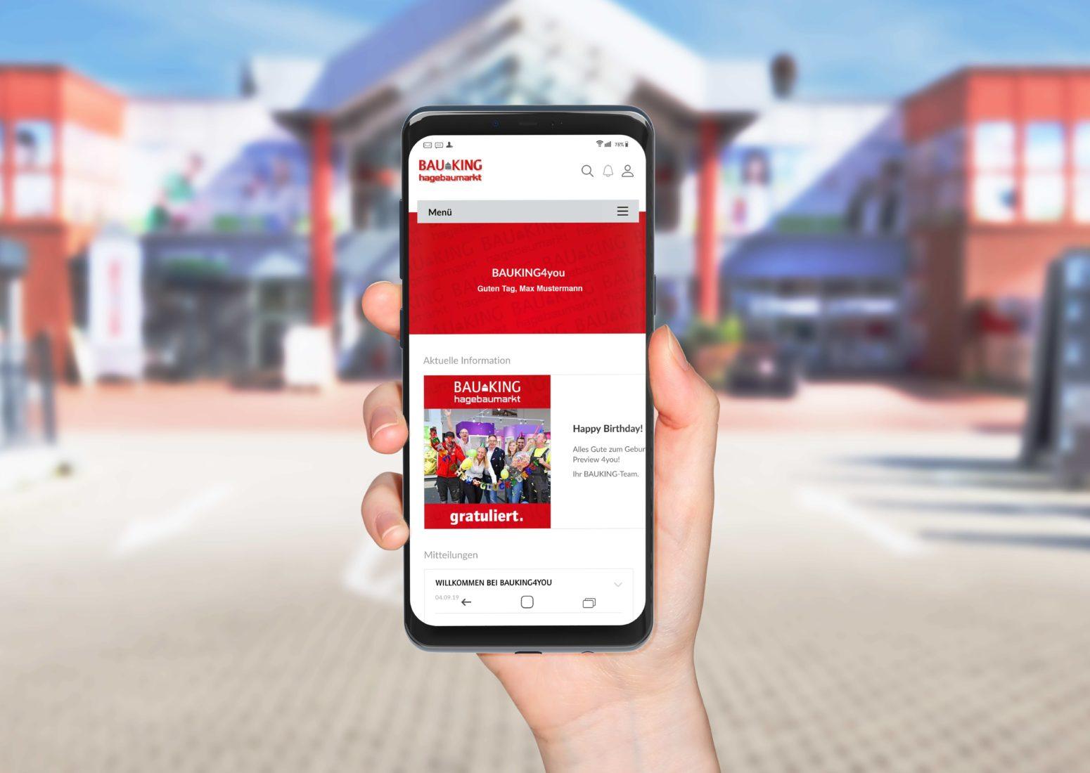 Mitarbeiter-App zur Digitalisierung der internen Kommunikation | Bauking